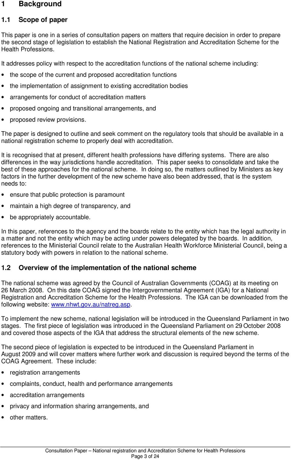 Accreditation Scheme for the Health Professions.