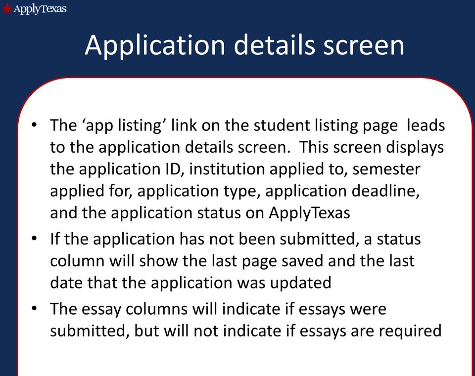 applytexas essays 2014 new apply texas essay prompts every student applying to the university of texas-austin and dozens of other private and public campuses in texas use the.