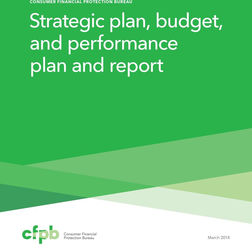 Strategic plan, budget,