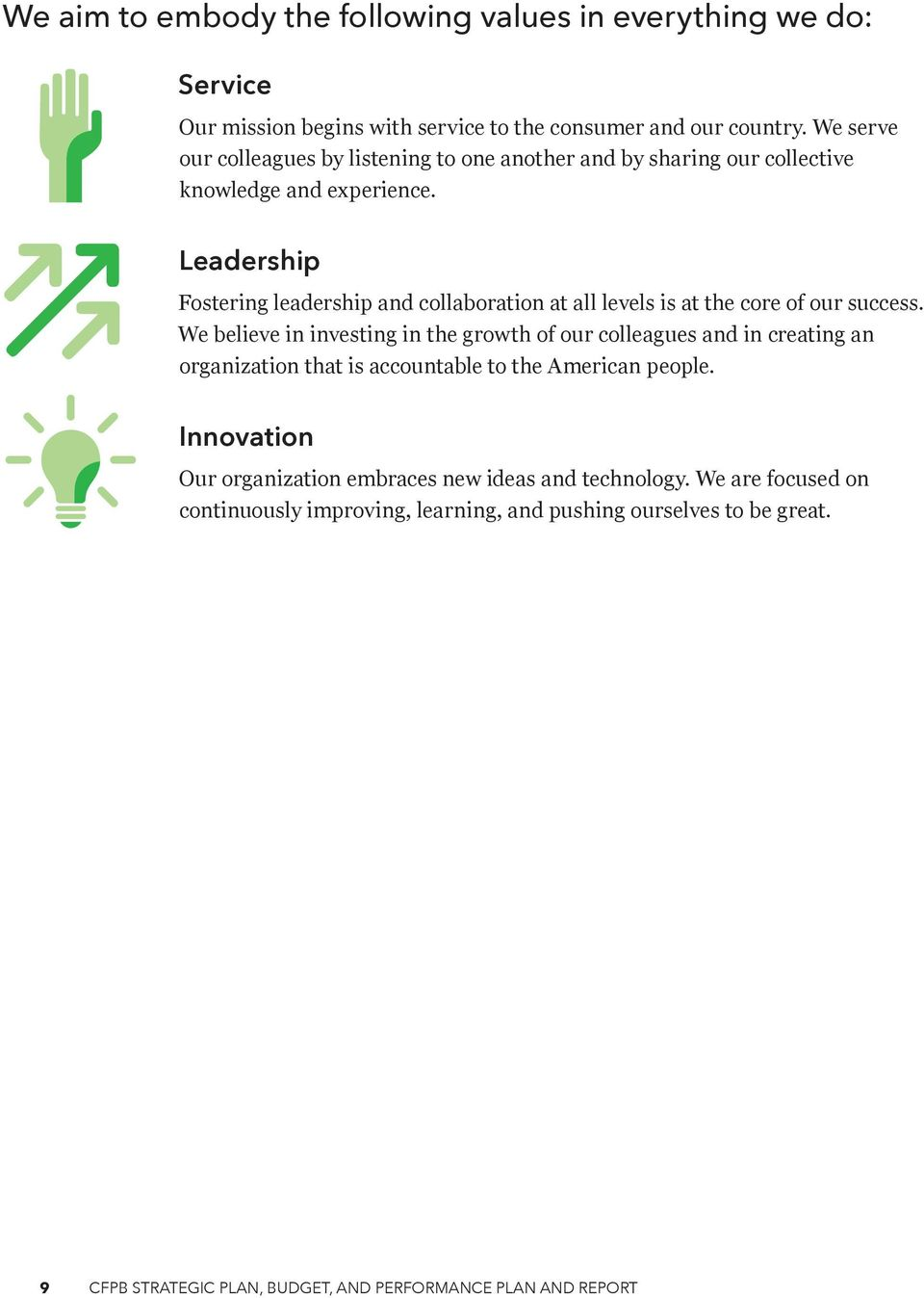 Leadership Fostering leadership and collaboration at all levels is at the core of our success.
