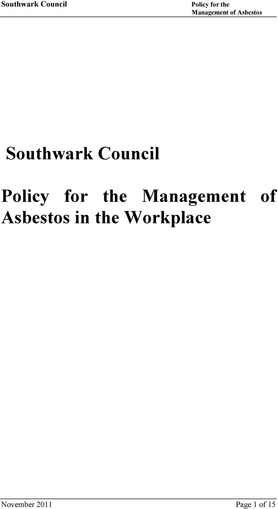 Asbestos in the