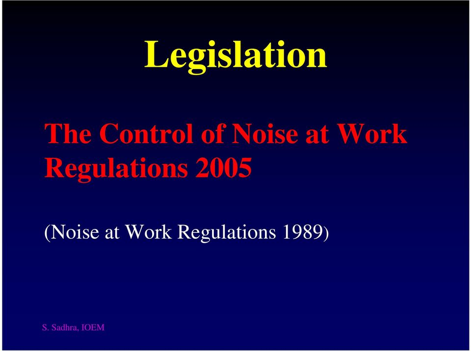 Work Regulations 2005