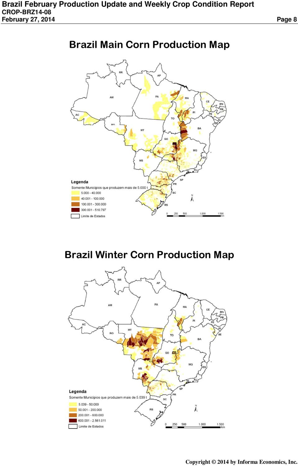 Production Map Brazil