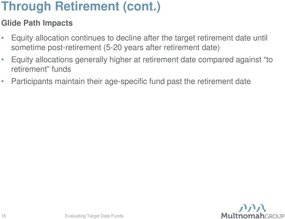 date until sometime post-retirement (5-20 years after retirement date) Equity