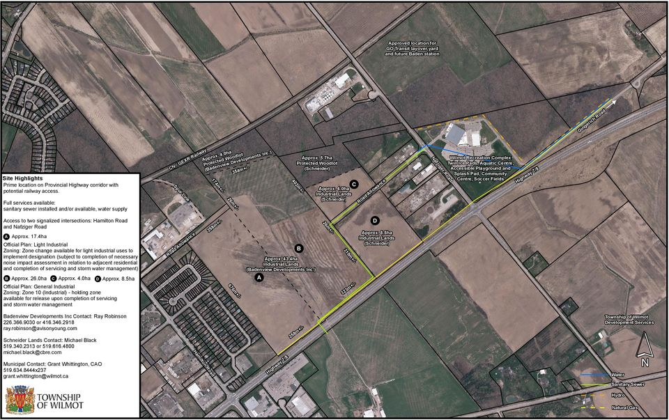 ) 0m 31 B 3m 32 6m 67 Official Plan: General Industrial Zoning: Zone 10 (Industrial) - holding zone available for release upon completion of servicing and storm water management D A ce an w ll o m 26