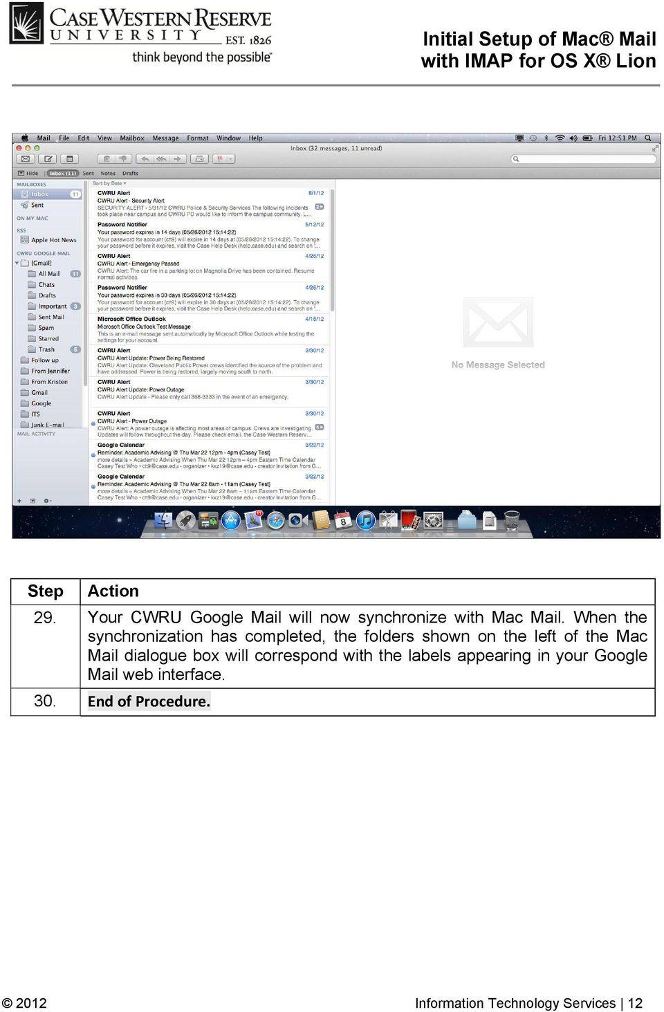 the Mac Mail dialogue box will correspond with the labels appearing in