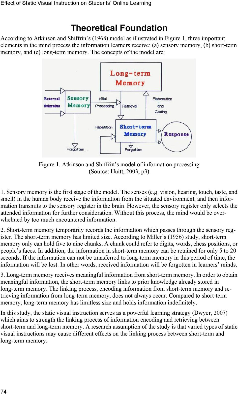 Atkinson and Shiffrin s model of information processing