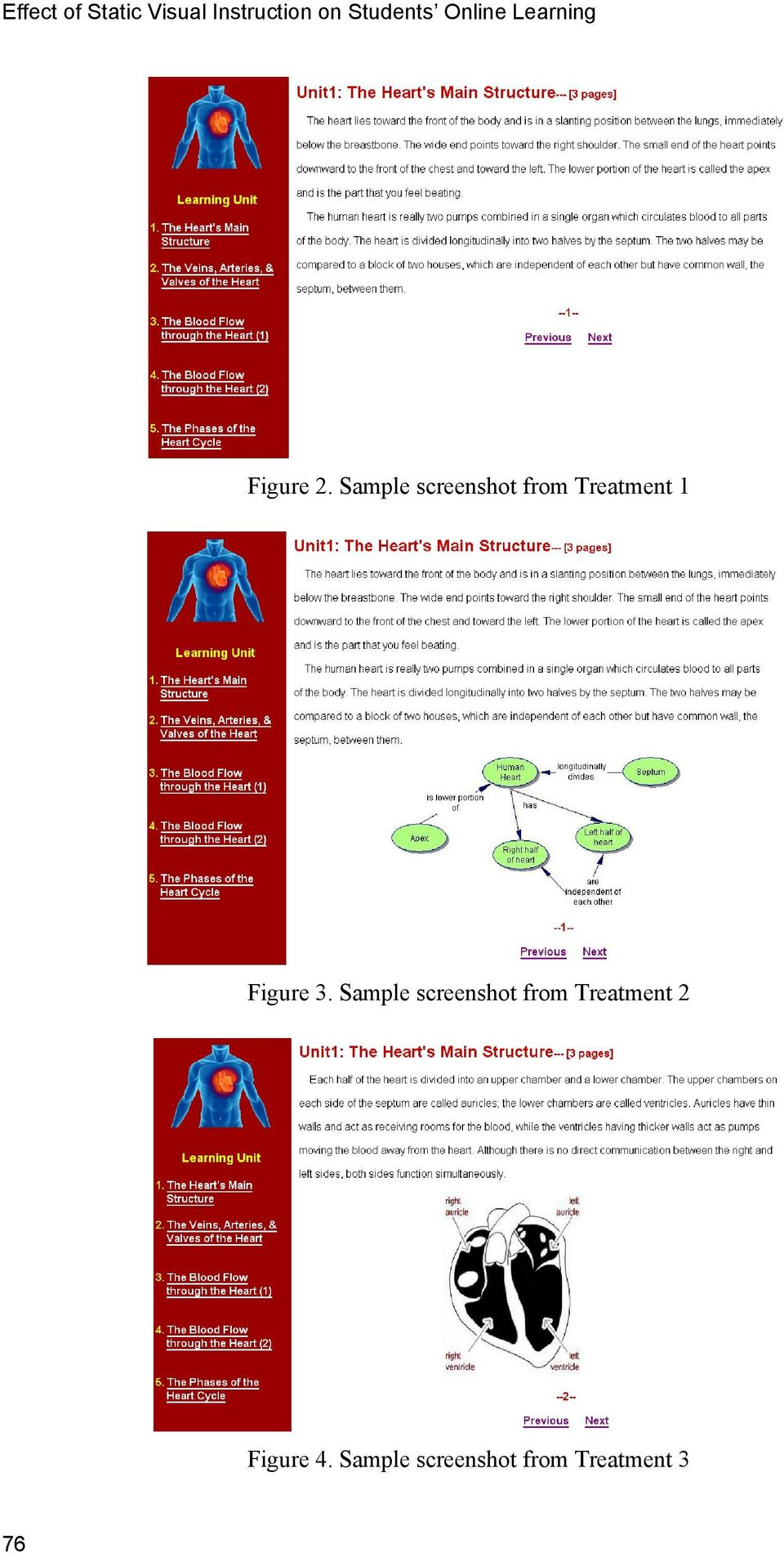 Sample screenshot from Treatment 1 Figure 3.