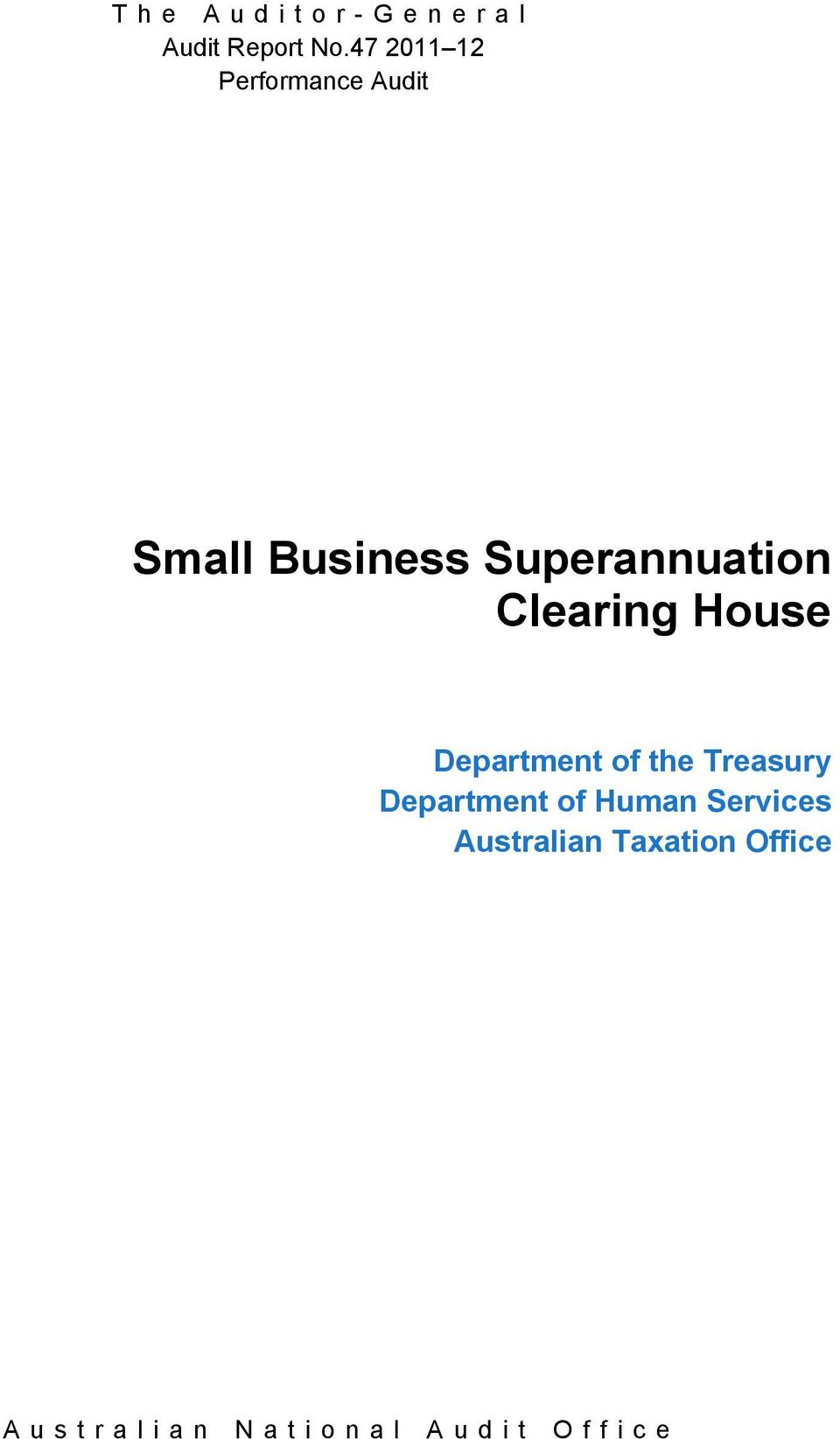 the Treasury Department of Human Services