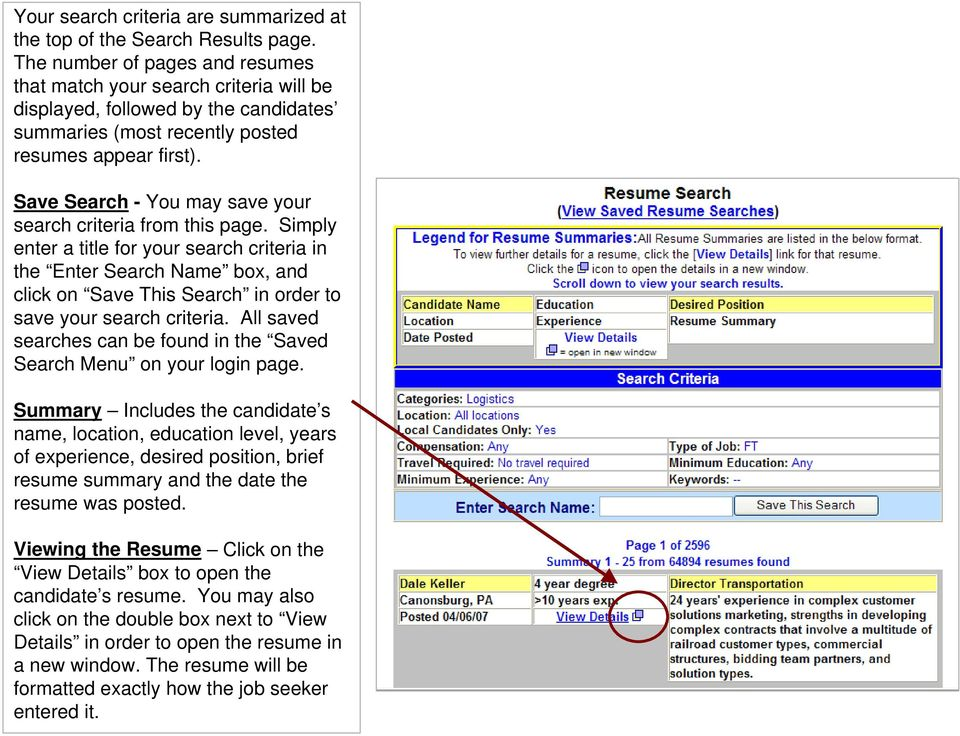 Save Search - You may save your search criteria from this page.