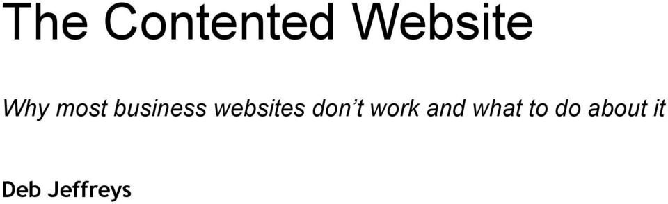 websites don t work and