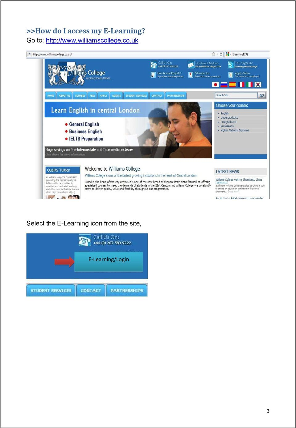 co.uk Select the E-Learning icon