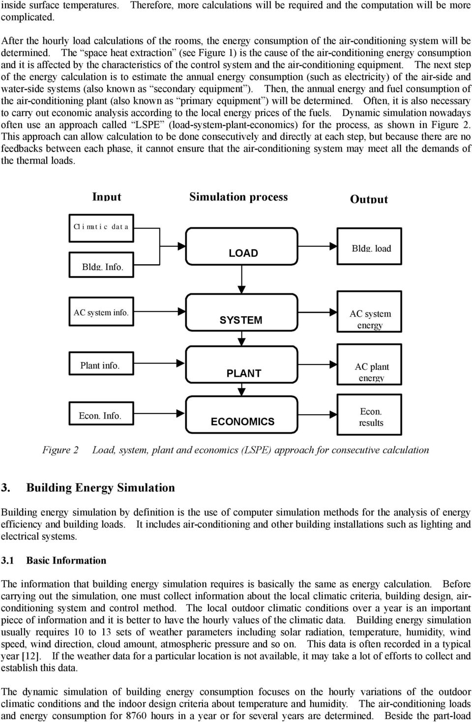 The space heat extraction (see Figure 1) is the cause of the air-conditioning energy consumption and it is affected by the characteristics of the control system and the air-conditioning equipment.