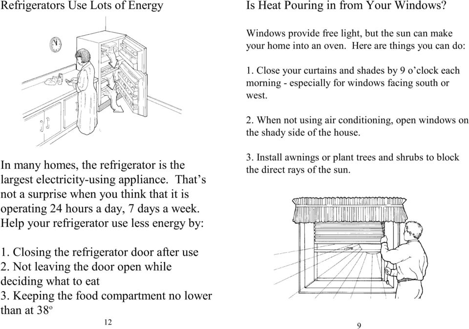In many homes, the refrigerator is the largest electricity-using appliance. That s not a surprise when you think that it is operating 24 hours a day, 7 days a week.