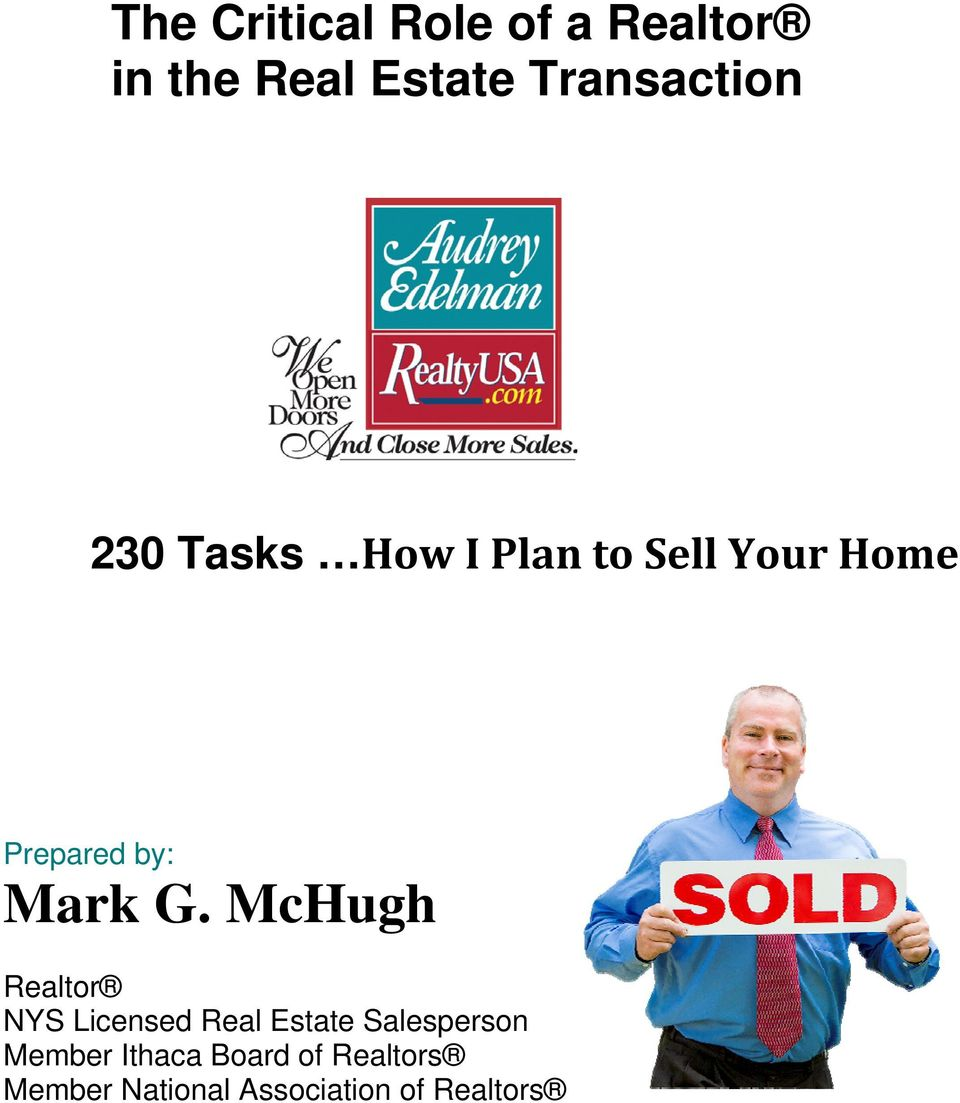 McHugh Realtor NYS Licensed Real Estate Salesperson Member