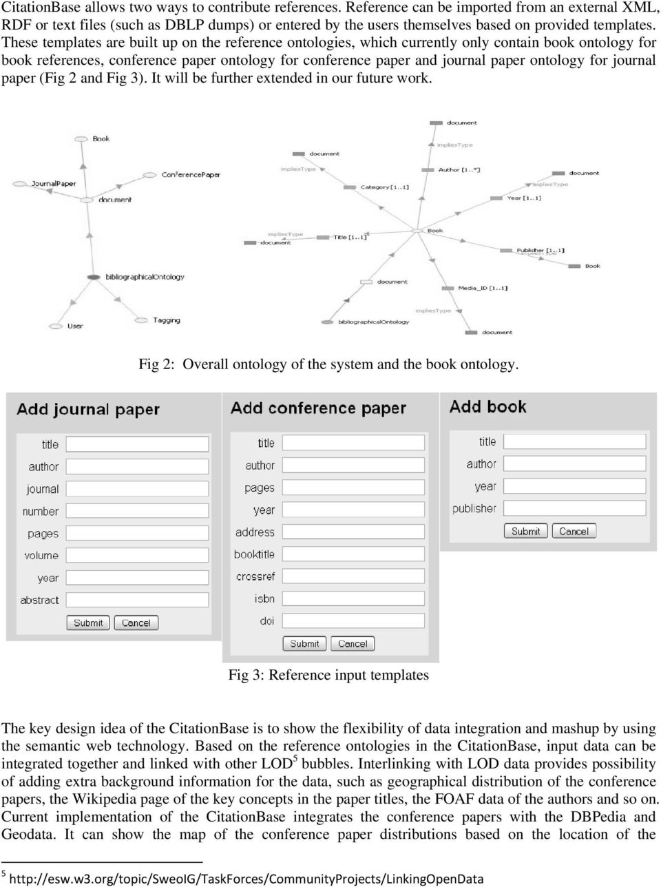 These templates are built up on the reference ontologies, which currently only contain book ontology for book references, conference paper ontology for conference paper and journal paper ontology for