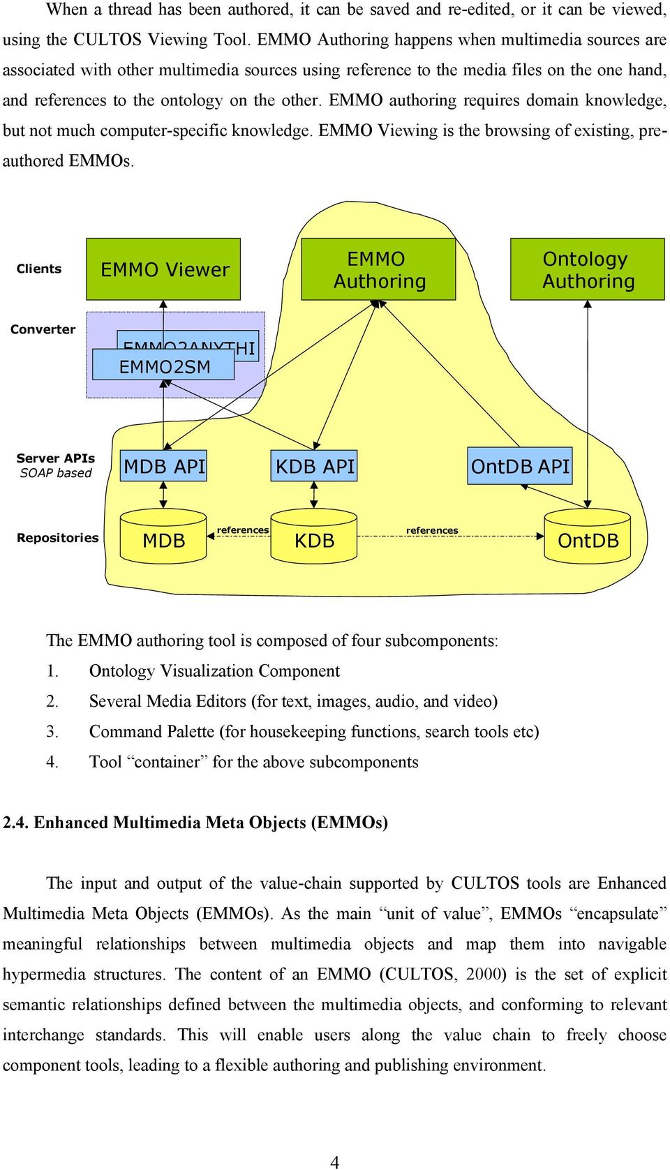EMMO authoring requires domain knowledge, but not much computer-specific knowledge. EMMO Viewing is the browsing of existing, preauthored EMMOs.