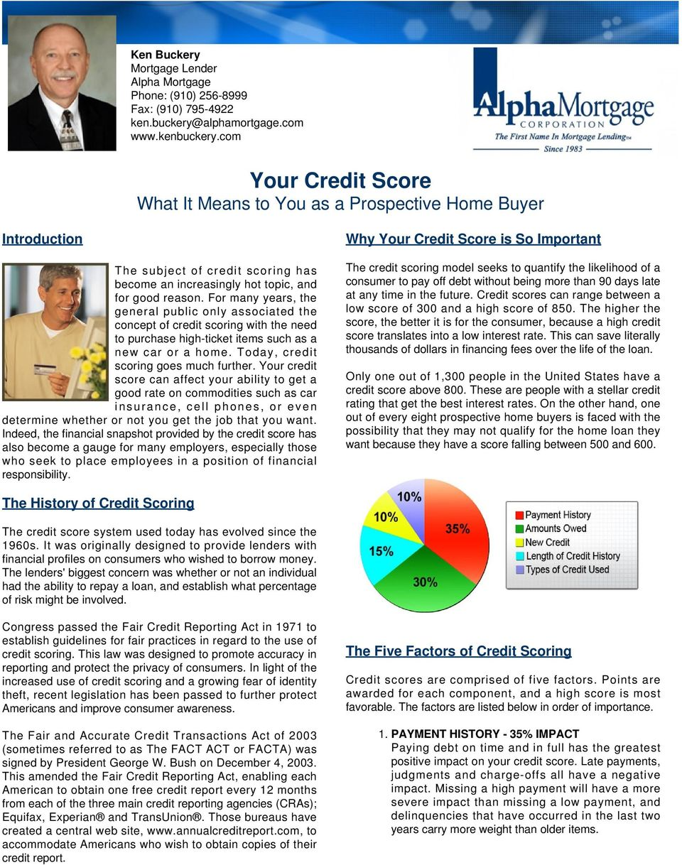 For many years, the general public only associated the concept of credit scoring with the need to purchase high-ticket items such as a new car or a home. Today, credit scoring goes much further.