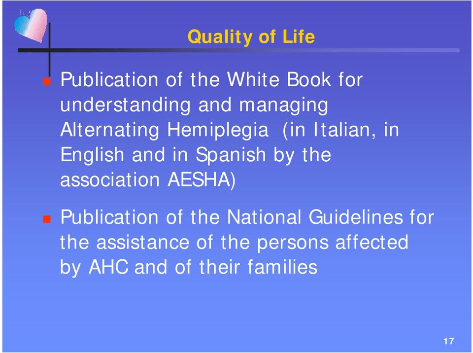 Spanish by the association AESHA) Publication of the National
