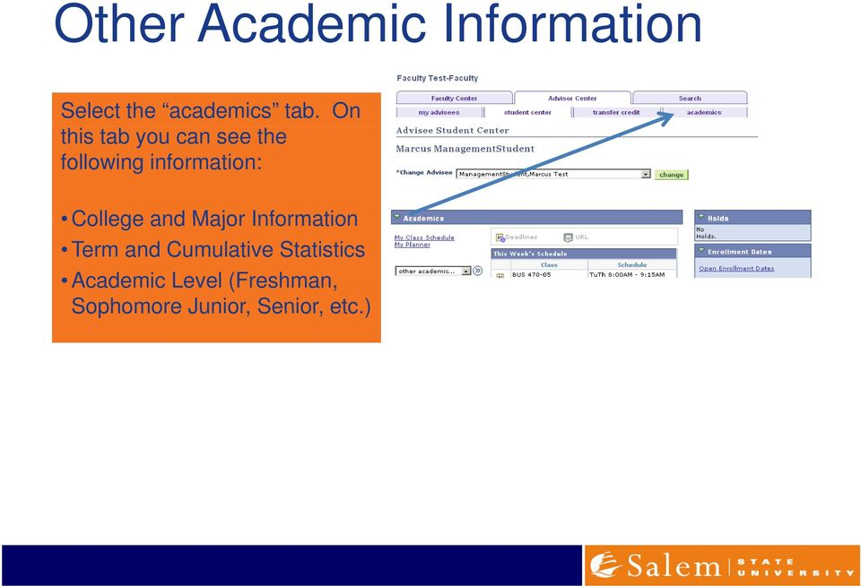 College and Major Information Term and Cumulative