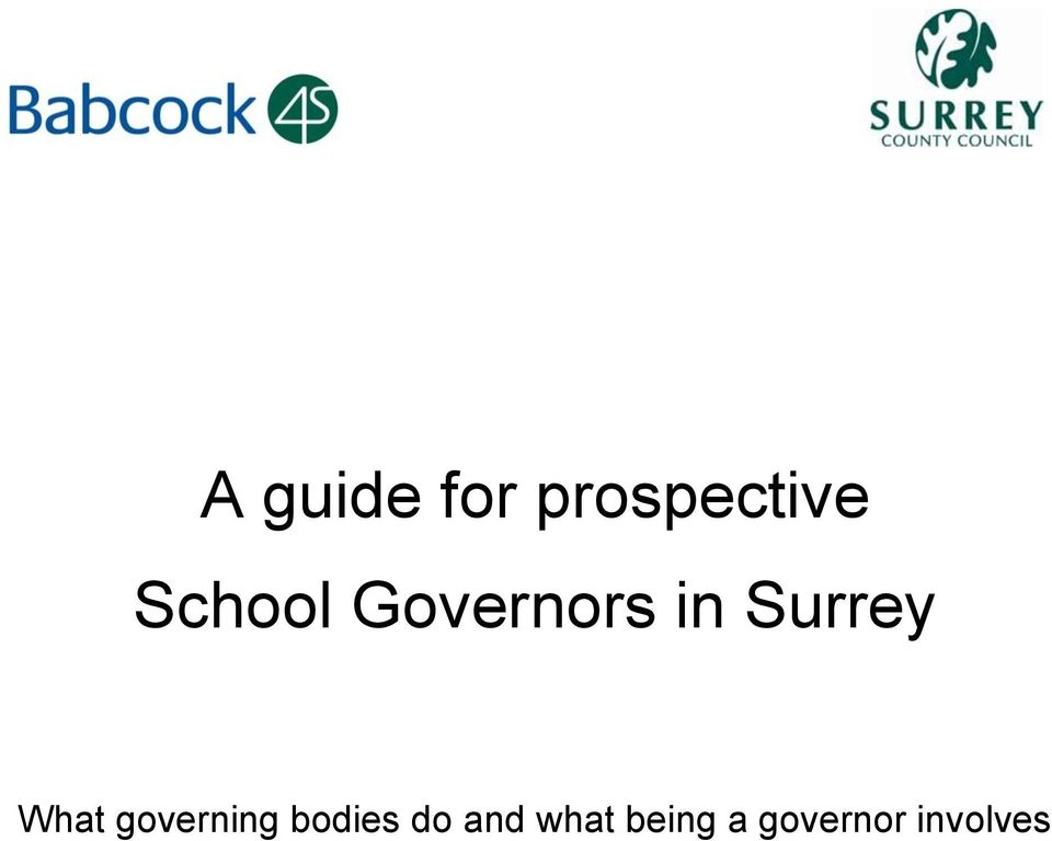 What governing bodies do
