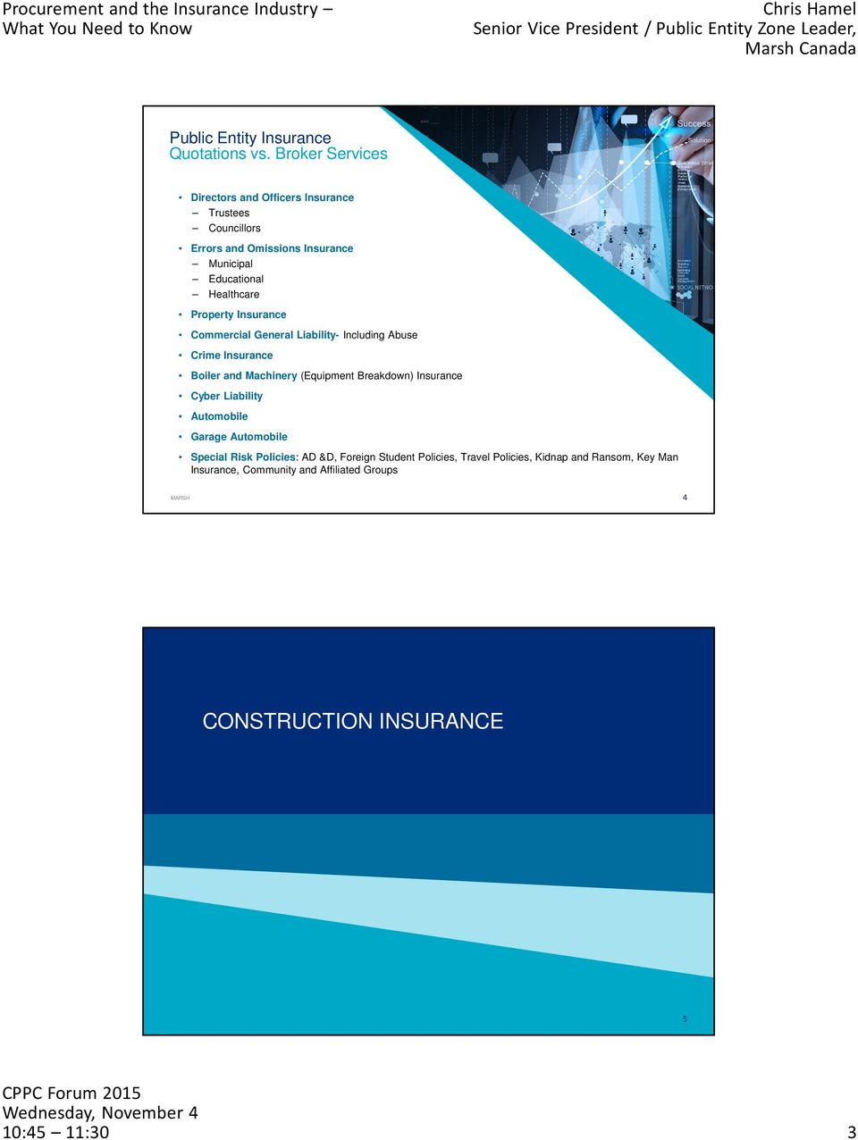 Property Insurance Commercial General Liability- Including Abuse Crime Insurance Boiler and Machinery (Equipment Breakdown) Insurance