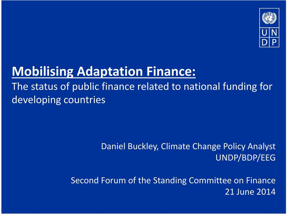 countries Daniel Buckley, Climate Change Policy Analyst