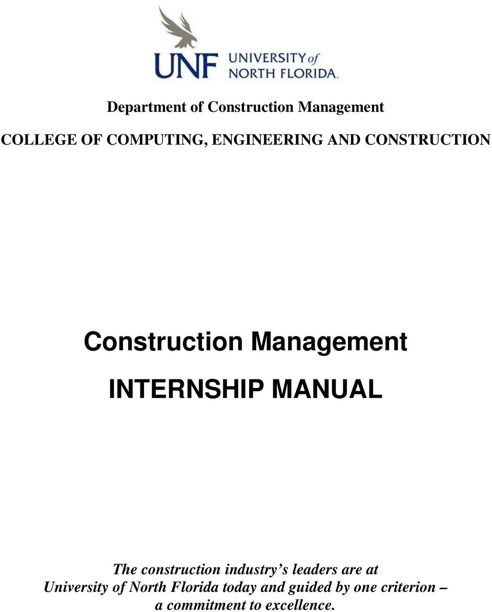 MANUAL The construction industry s leaders are at University of