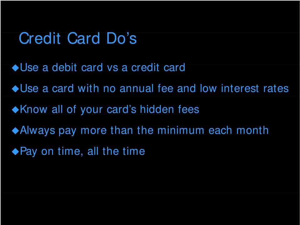 Know all of your card s hidden fees Always pay more