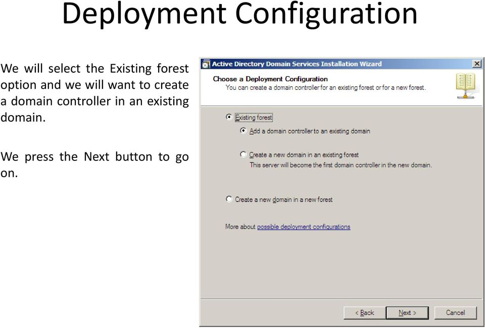 want to create a domain controller in an