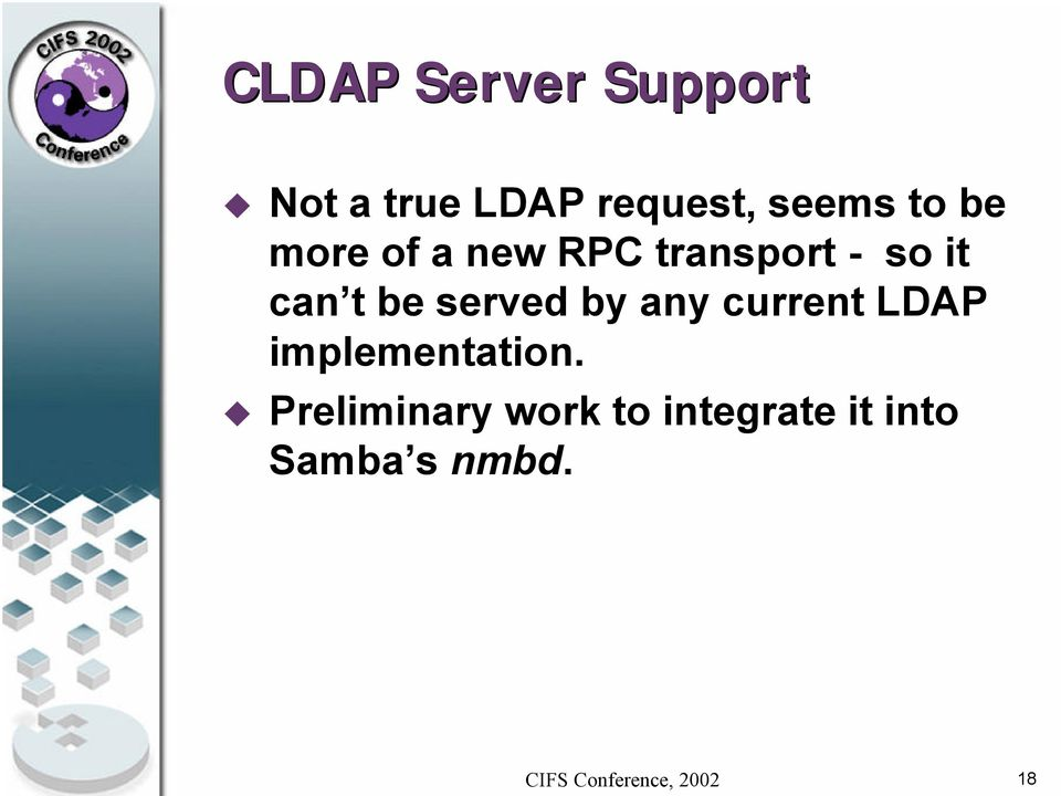 can t be served by any current LDAP