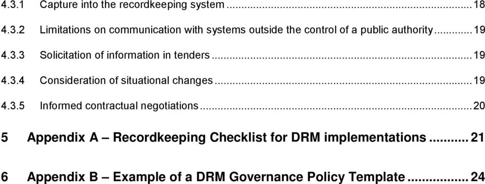 ..20 5 Appendix A Recordkeeping Checklist for DRM implementations.