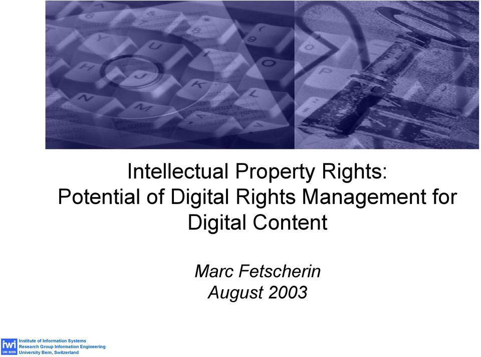 Rights Management for