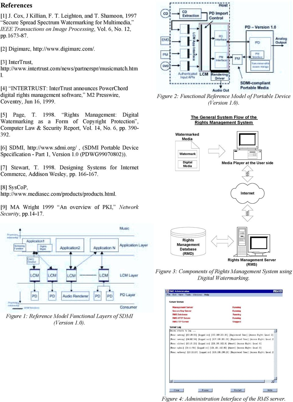 [4] INTERTRUST: InterTrust announces PowerChord digital rights management software, M2 Presswire, Coventry, Jun 16, 1999. [5] Page, T. 1998.