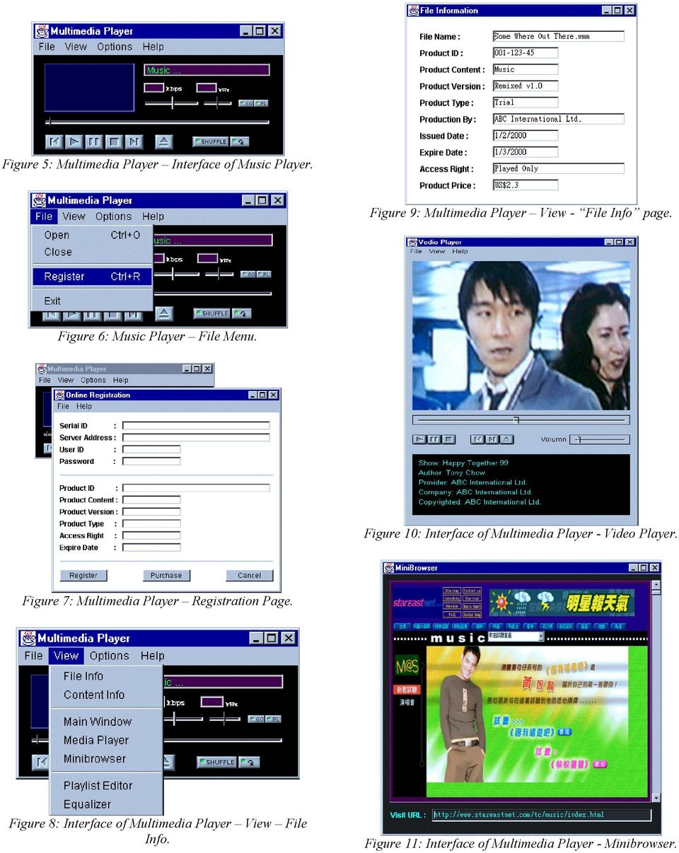 Figure 10: Interface of Multimedia Player - Video Player.
