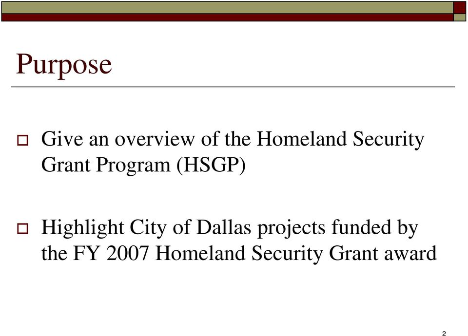 Highlight City of Dallas projects