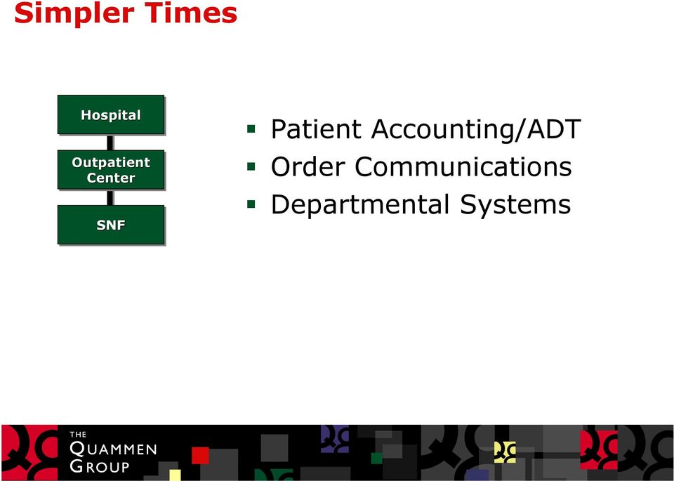 Patient Accounting/ADT