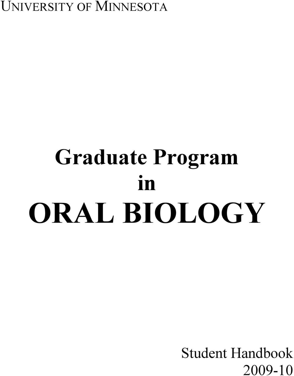 Program in ORAL