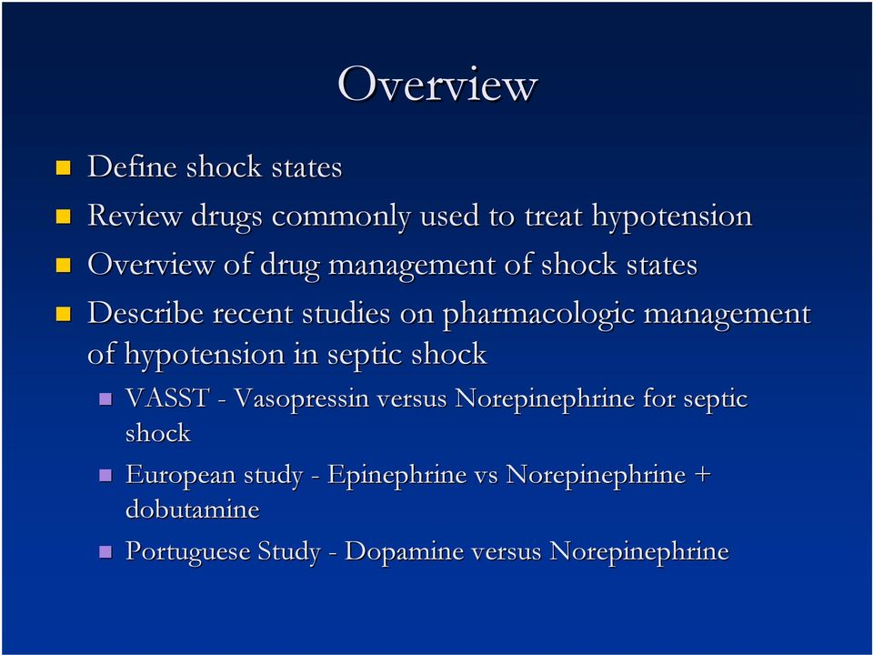 hypotension in septic shock VASST - Vasopressin versus Norepinephrine for septic shock