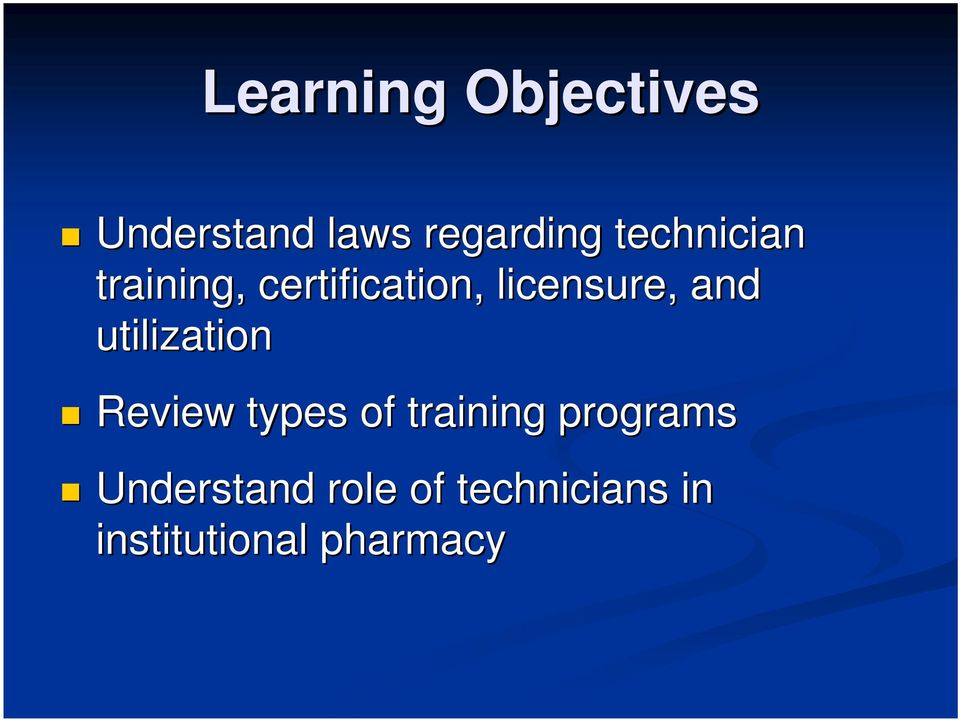 and utilization Review types of training programs