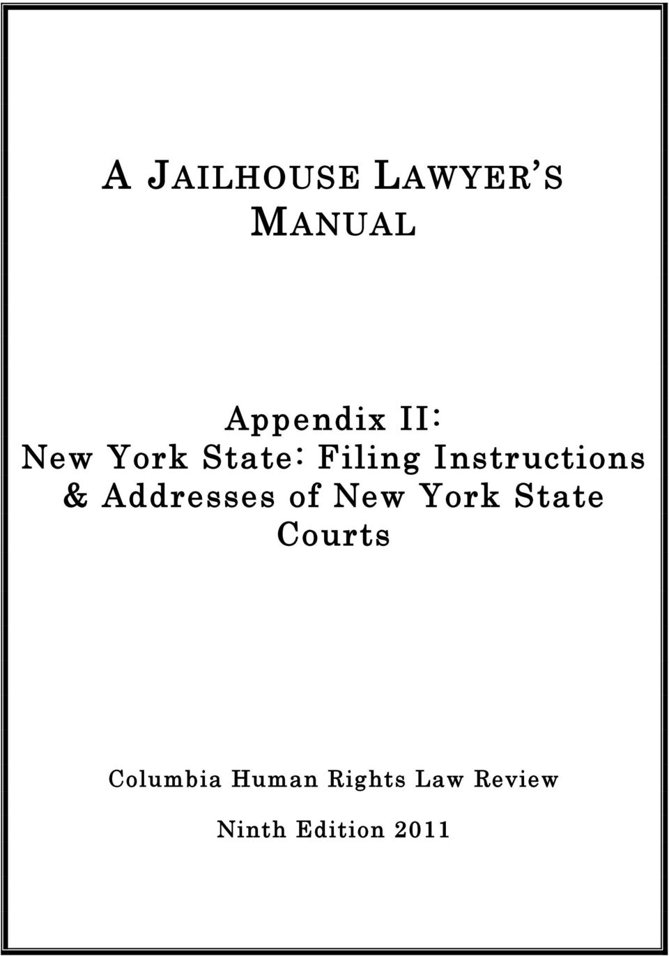 Addresses of New York State Courts