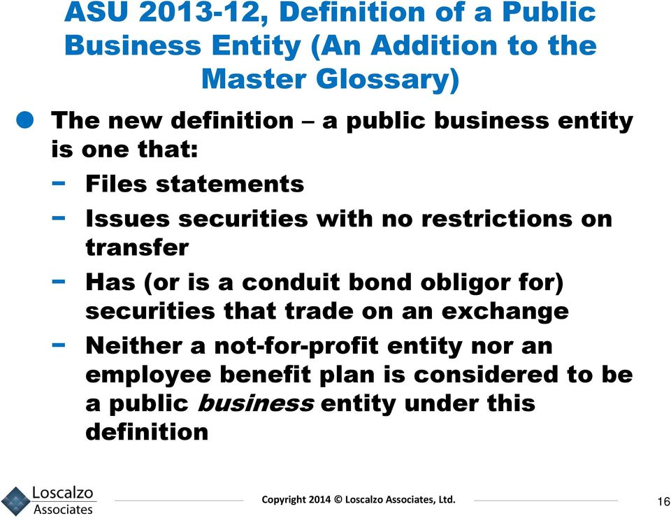 on transfer Has (or is a conduit bond obligor for) securities that trade on an exchange Neither a