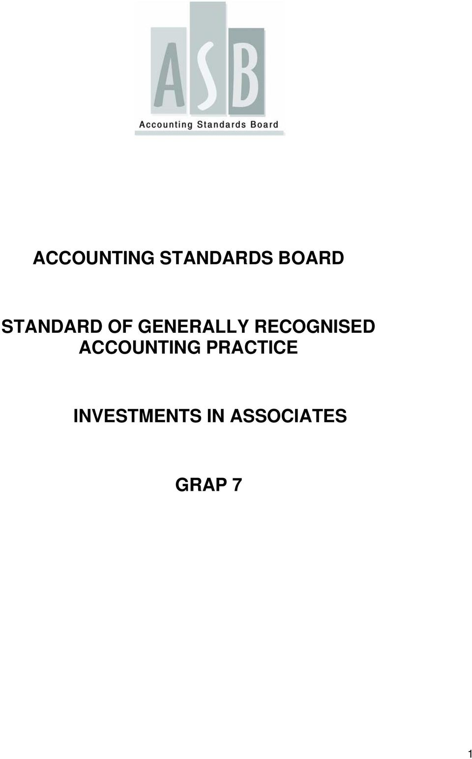 RECOGNISED ACCOUNTING