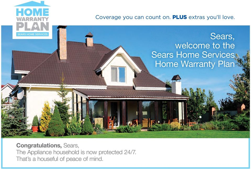 Home Sears Welcome To The Sears Home Services Home Warranty Plan Pdf