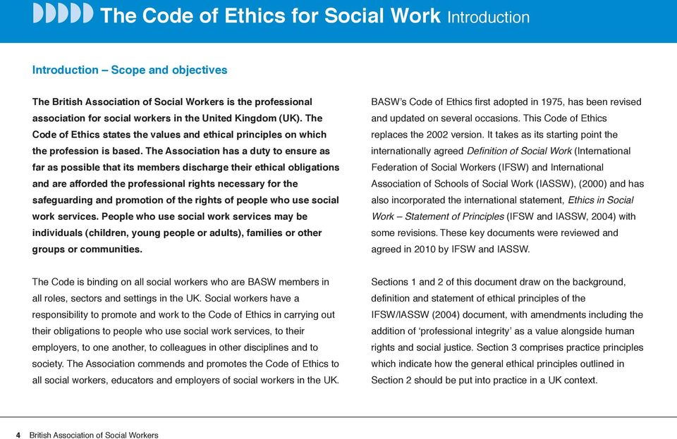 Dating code of ethics