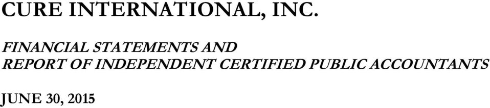 INDEPENDENT CERTIFIED
