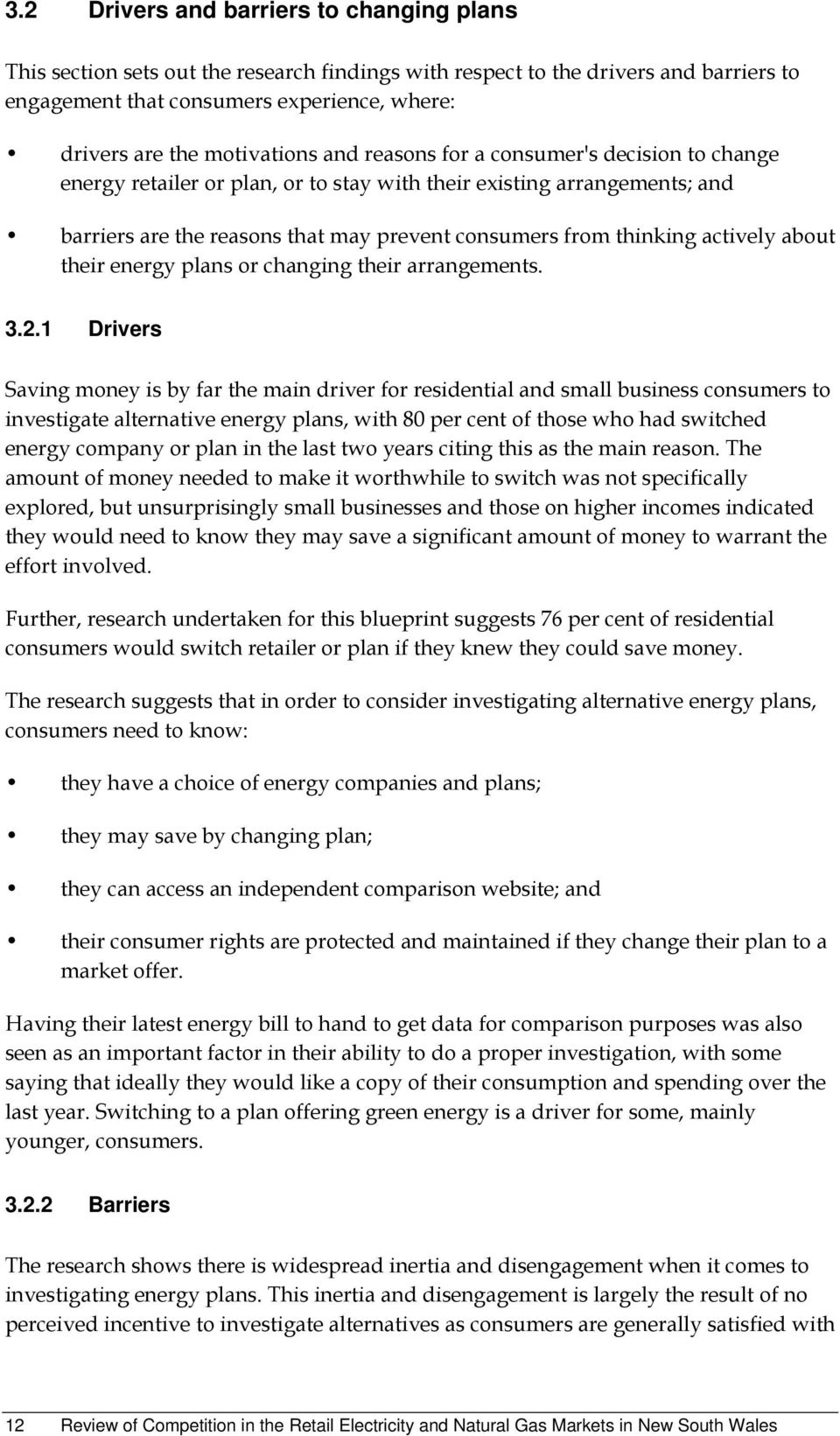 actively about their energy plans or changing their arrangements. 3.2.