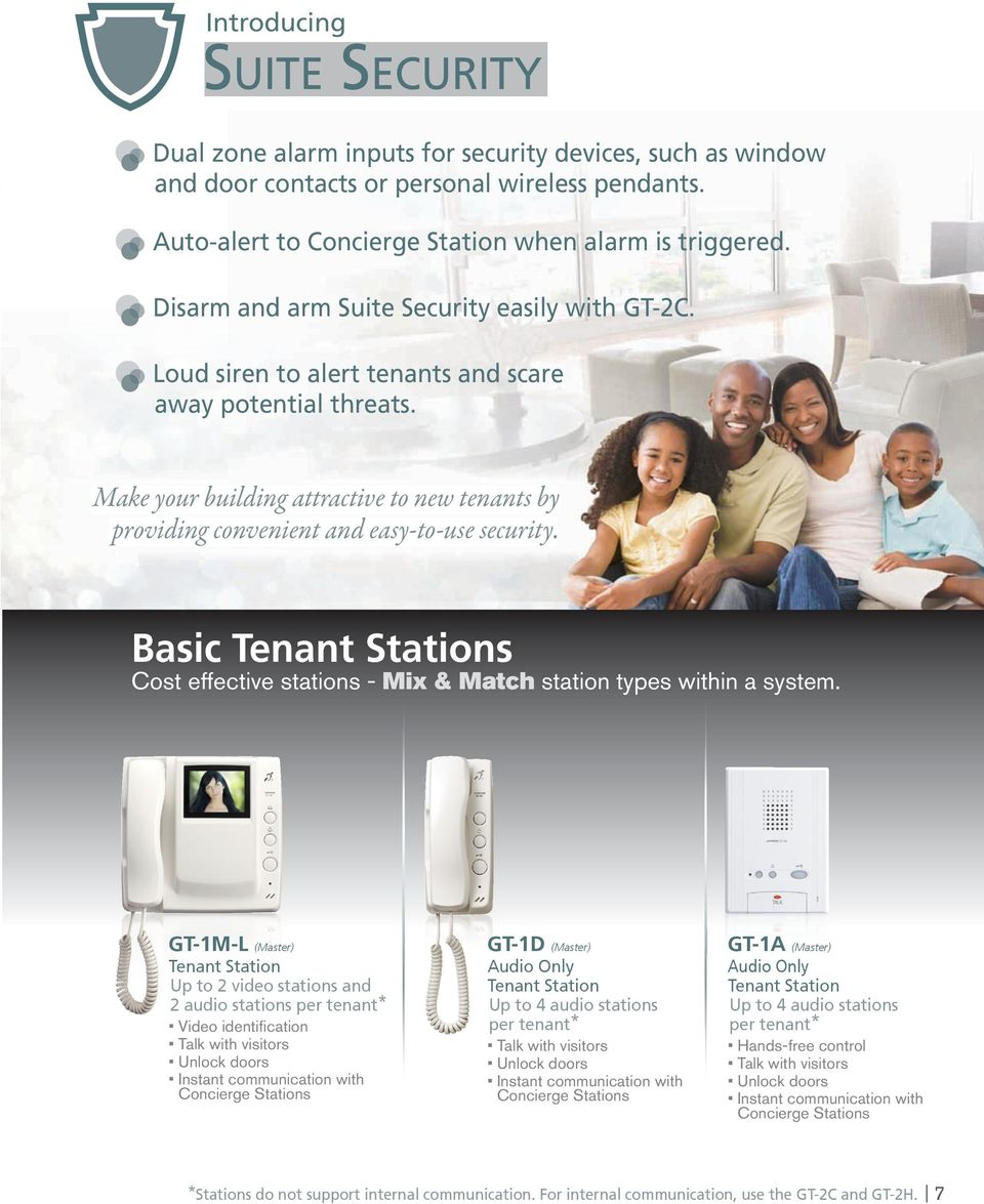 Make your building attractive to new tenants by providing convenient and easy-to-use security. Basic s Cost effective stations - Mix & Match station types within a system.