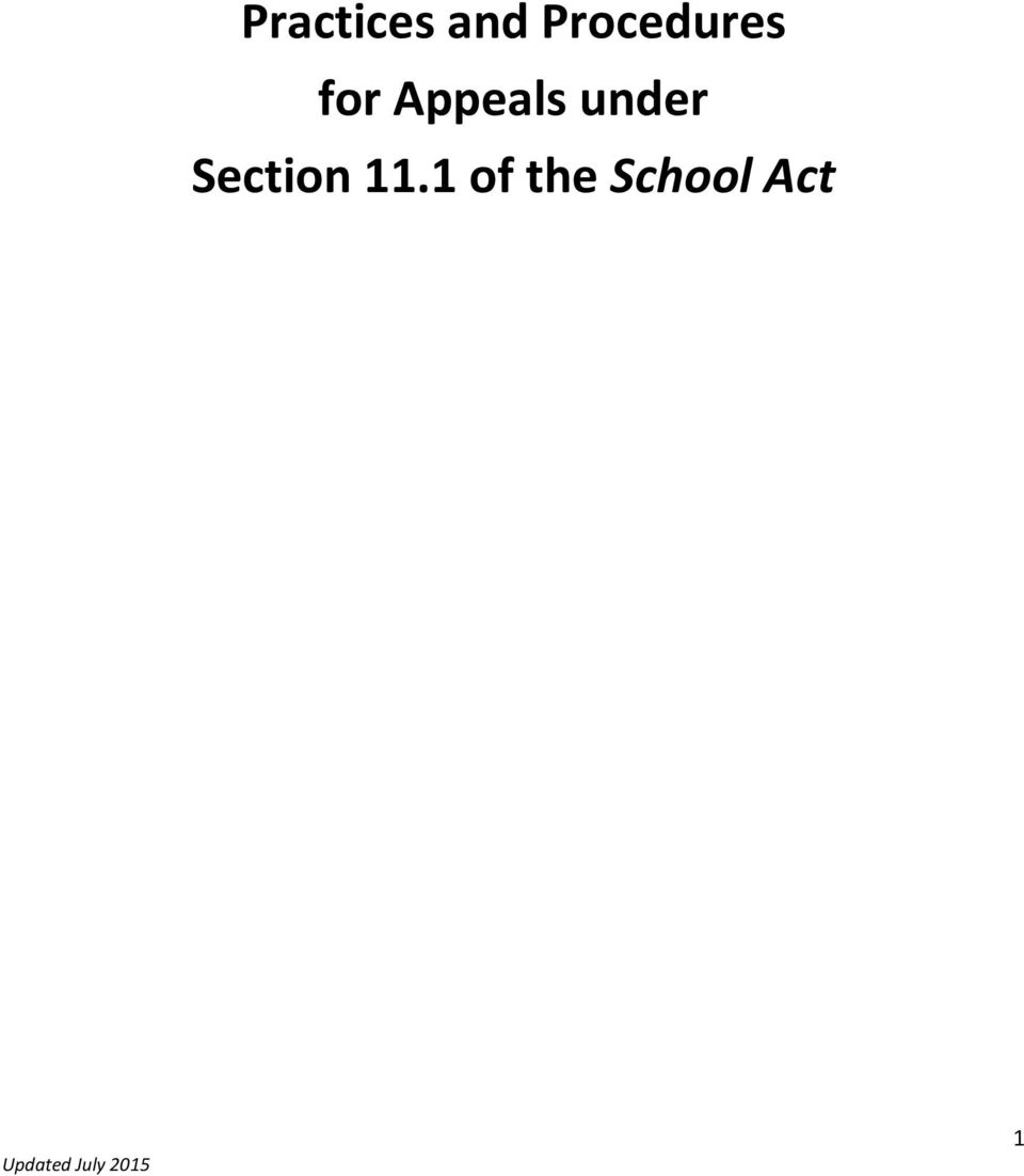 Appeals under