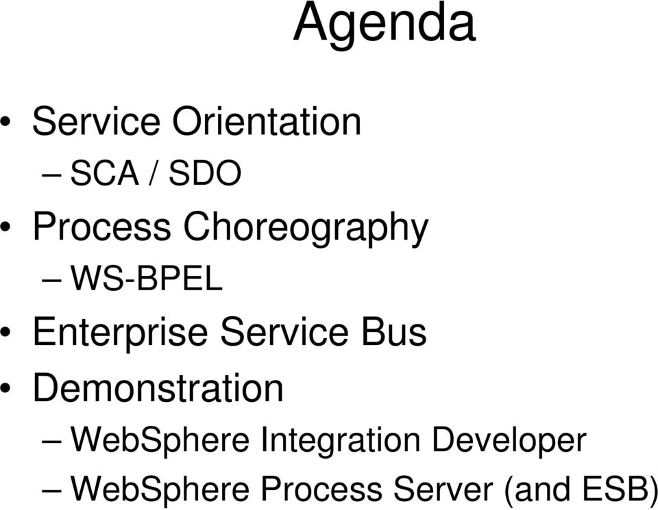Service Bus Demonstration WebSphere